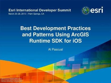 Best Development Practices and Patterns Using ArcGIS Runtime SDK for iOS, Electronics | wesrch | Scoop.it