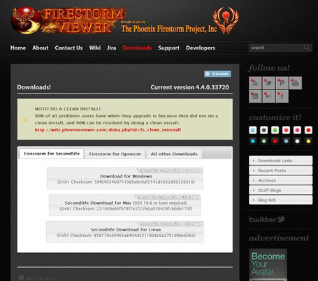 Ola Nordmann Goes West: Step by step guide to installing the Firestorm Viewer | Logicamp | Scoop.it