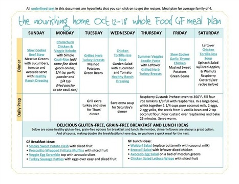 Bi-Weekly Whole Food Meal Plan for October 12–25 | Say No to Dieting | Scoop.it
