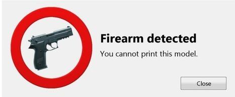 Armes à feu en impression 3D : l'interdiction par logiciel est déjà là | Libertés Numériques | Scoop.it
