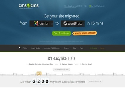 CMS2CMS: A Web Based Service that Helps to Move Content from the Existing CMS to a New One Easily and Fast   journalismandcomms   Scoop.it