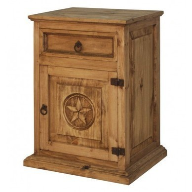 Rustic Wood Nightstand With Texas Star Furniture | old world furniture | Scoop.it
