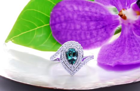 """Feodora"" - a beautiful engagement ring featuring...   Gemstones Trends   Scoop.it"