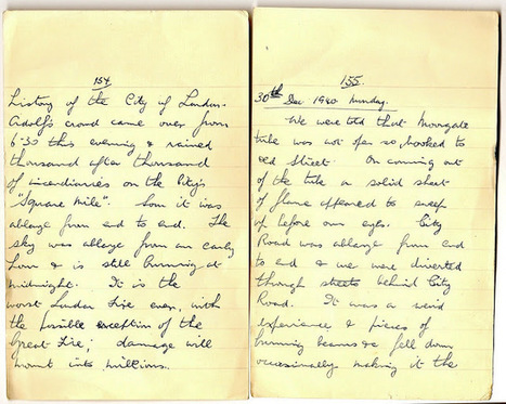 London War Diary: December 29th and 30th 1940   London War Diary. Original written pages. 1940   Scoop.it