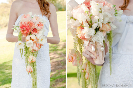 The 'NEW' Cascading Bouquet | San Diego Wedding Blog | Ceremony and reception flowers | Scoop.it