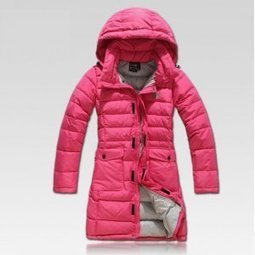 Discount North Face Women's Down Red Long Coat $219.00 & free shipping! | winter wear | Scoop.it
