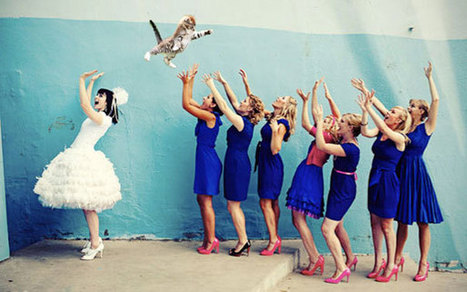 Bride's Bouquets Replaced By Flying Cats In The Latest Wedding Photography Trend   Wedding Photography   Scoop.it
