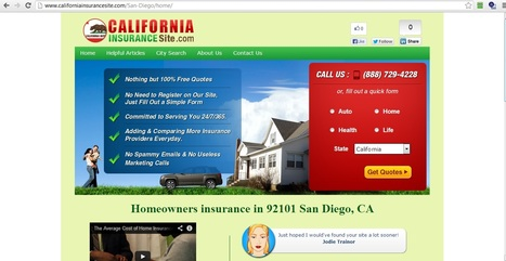 Homeowners insurance and Home insurance - 92101 San Diego, California | home insurance san diego | Scoop.it