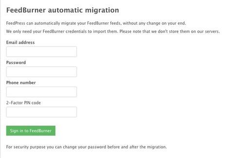 FeedPress introduces automated FeedBurner migration | RSS Circus : veille stratégique, intelligence économique, curation, publication, Web 2.0 | Scoop.it