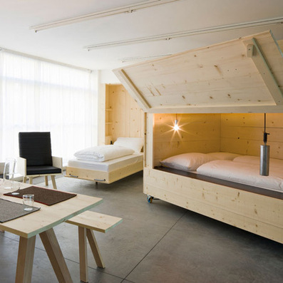 Harry Thaler adds mobile furniture and boxy beds to artists' apartment | How to Have the Greatest Office Ever | Scoop.it