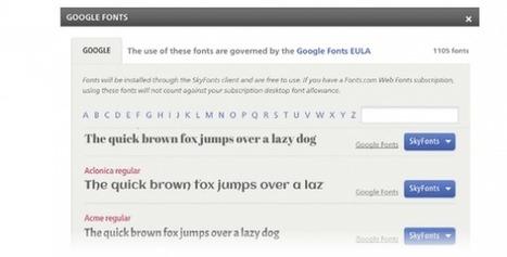 Google ya permite bajar las Google Fonts (tipografía) a nuestro ordenador, sincronizando con la versión web   El Content Curator Semanal   Scoop.it