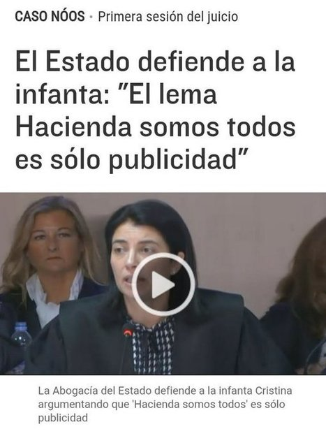 """CNA: Indignación en Twitter por el juicio a la infanta: """"Hacienda somos todos"""", """"La justicia es igual para todos""""   La R-Evolución de ARMAK   Scoop.it"""