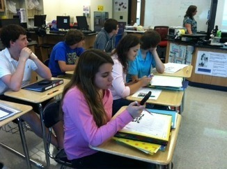 Cleveland teacher uses cell phones as classroom learning tools - WRCB-TV   Secondary Education; 21st Century Technology and Social Media   Scoop.it