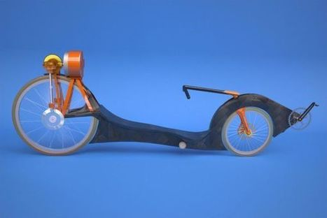 Concept recumbent bicycle stores energy efficiency in a flywheel | Uncommon but Notable | Scoop.it