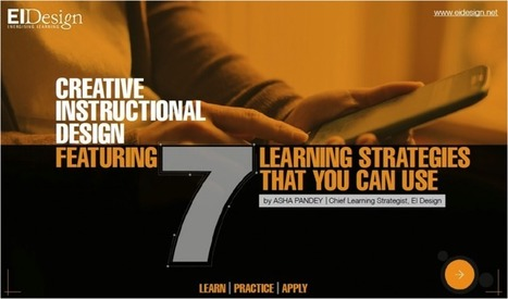 Free eBook: Creative Instructional Design - 7 Learning Strategies That You Can Use | Learning & Mind & Brain | Scoop.it