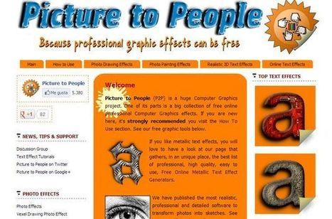 Picture to People: aplica efectos, edita fotos, crea textos, convierte imágenes y mucho más   NTICs en Educación   Scoop.it