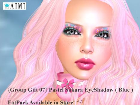 Fashion EyeShadow Pastel Sakura Blue Group Gift by {AIMI} SKIN | Teleport Hub | Second Life Freebies | Scoop.it