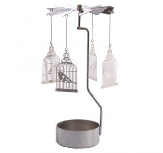 Bird in Cage Tealight Metal Spinning Decoration | Home Gifts | Scoop.it