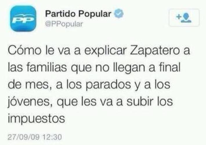 Twitter / elpadrecorajede: Que mala es la hemeroteca para El ...   Partido Popular, una visión crítica   Scoop.it
