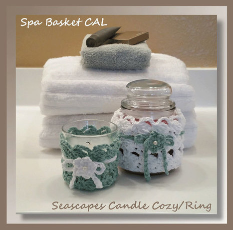 Seascapes Candle Cozy/Ring | Free Crochet Patterns | Scoop.it