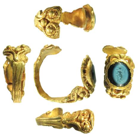 Hallan un anillo de oro con la imagen de Cupido | ArqueoNet | Scoop.it