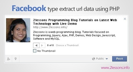 Facebook type extract url data using PHP and jQuery   nourchen   Scoop.it
