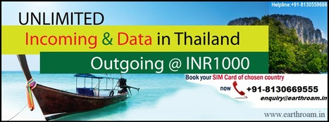 Enjoy Unlimited Incoming & Data in Thailand. | Buy Earth Roam International SIM Cards at Cheapest Rate. | Scoop.it