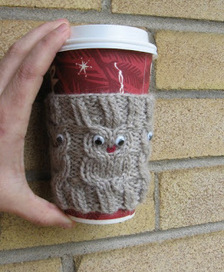 My Knitting Basket: Owl Coffee Cup Cozie pattern | Needle and Hook Patterns-all free | Scoop.it