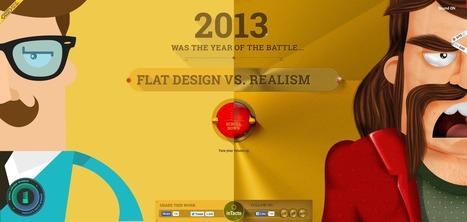 Le Skeuomorphisme et le Flat design : le combat ! | Actu de la Com' et du Web | Scoop.it