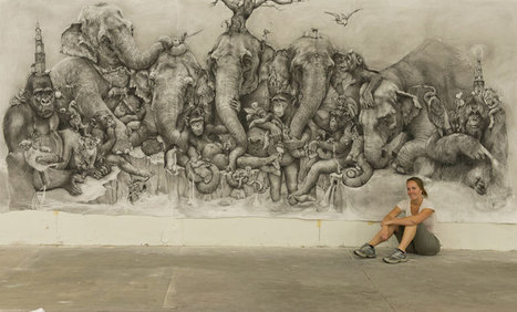 Adonna Khare's Incredible Elephant Mural | World of Street & Outdoor Arts | Scoop.it