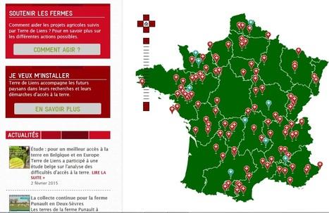 La carte des fermes Terre de Liens -   Les cartes des Alternatives - Géographie de la transition   Scoop.it