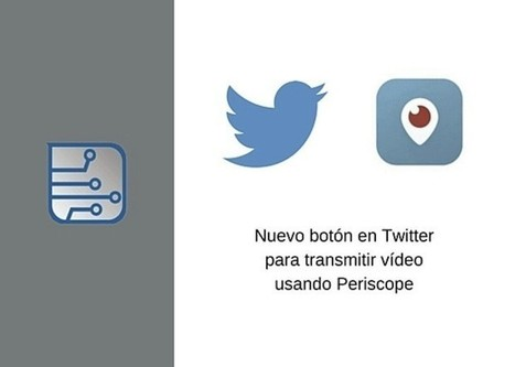 Twitter incluirá un botón para transmitir vídeo en directo desde Periscope | Marketing en la Ola Digital | Scoop.it