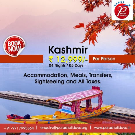 Budget Kashmir Holiday Packages, Kashmir Vacations 2016. | Paras Holidays - Group Tours, Holiday Packages, Honeymoon Packages 2017 | Scoop.it