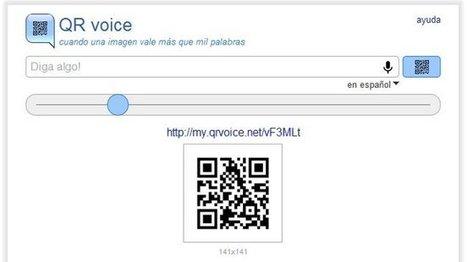 QR voice: introduce una conversión de texto a audio en un código QR | VIM | Scoop.it