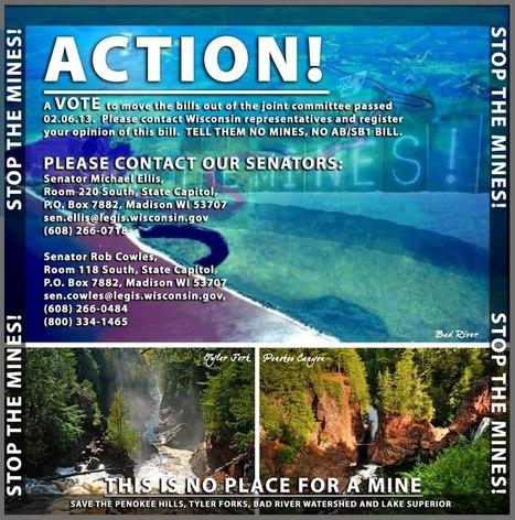 TAKE ACTION - NO MINES! NO AB1/SB1 MINE BILL   Facebook   IDLE NO MORE WISCONSIN   Scoop.it