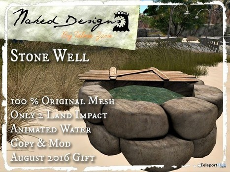 Stone Well Gift by Naked Design | Teleport Hub - Second Life Freebies | Second Life Freebies | Scoop.it