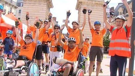 En rollers et en fauteuils roulants, le défi de « Mobile en ville » est passé par Dijon - France 3 Bourgogne   Handicap, Mobilité et Vivre Ensemble   Scoop.it