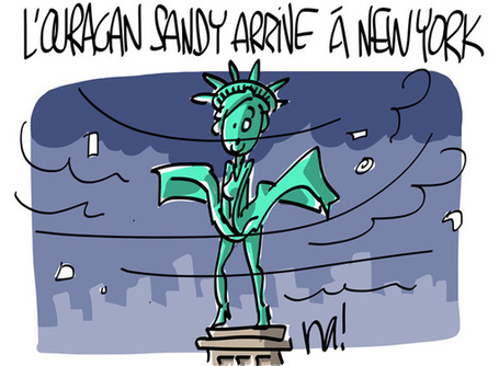 L'ouragan Sandy arrive à New-York | Baie d'humour | Scoop.it