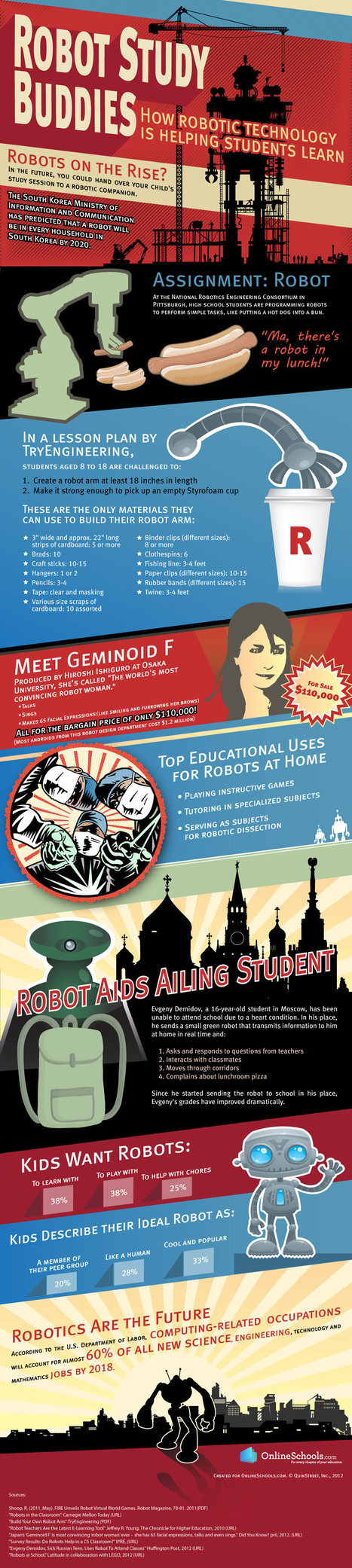 INFOGRAPHIC: Robot Study Buddies: How Robotic Technology is Helping Students Learn | Online Schools | The Robot Times | Scoop.it