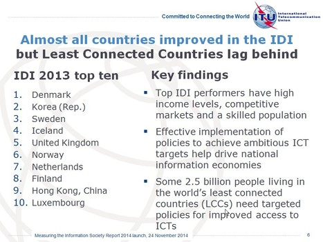 ITU releases annual global ICT data & ICT Development Index country rankings | networks and network weaving | Scoop.it