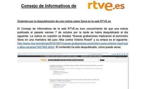 Televisión Española borra de su web la noticia sobre la implicación de Soria en la maniobra del juez Alba | Utopías y dificultades. | Scoop.it