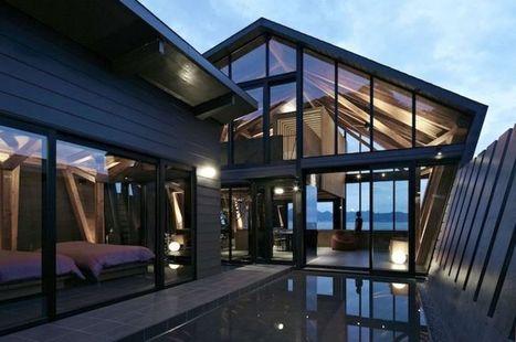 Le polygone pour forme à cette maison en bois bordant l'océan au Japon   Construire Tendance   Dans l'actu   Doc' ESTP   Scoop.it