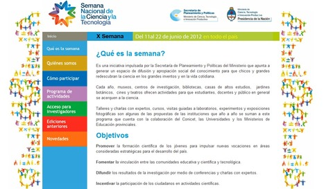 Semana Nacional de la Ciencia y la Tecnología: del 11 al 22 de junio en todo el país | Bibliotecas Escolares Argentinas | Scoop.it