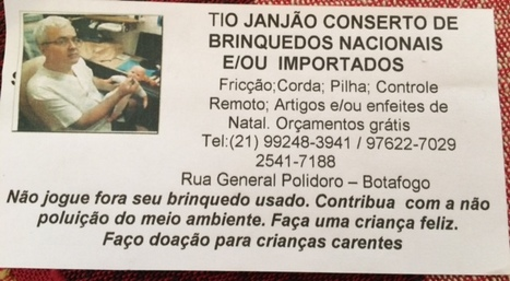 Tio Janjão Conserto de Brinquedos | RL | Scoop.it