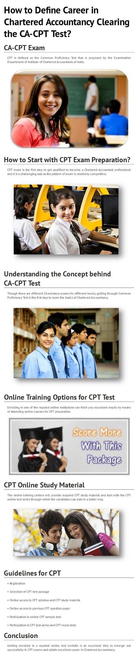 How to Get Success in CA-CPT Test By www.entranceprime.com | EntrancePrime | Scoop.it
