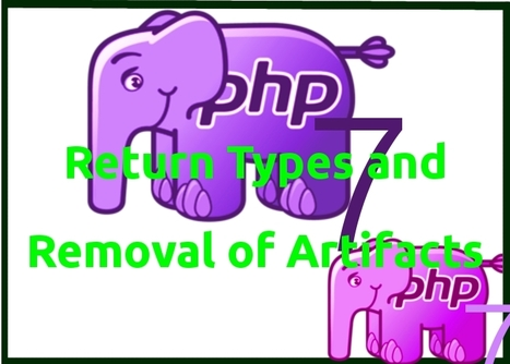 Revolution of PHP 7: Usage of Return Types and Removal of Artifacts   web development Boston   Scoop.it