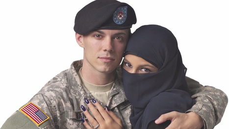 Ad Agency Rejects 'Uncomfortable' Photo of Muslim Woman Embracing a US Soldier from Its Times Square Billboards | fotograficznie | Scoop.it