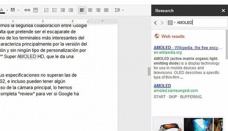 Google Docs añade una barra de investigación a la edición de documentos | Educación a Distancia y TIC | Scoop.it