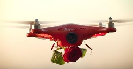 #Cupidrone : un drone qui distribue des fleurs pour la Saint-Valentin | streetmarketing | Scoop.it