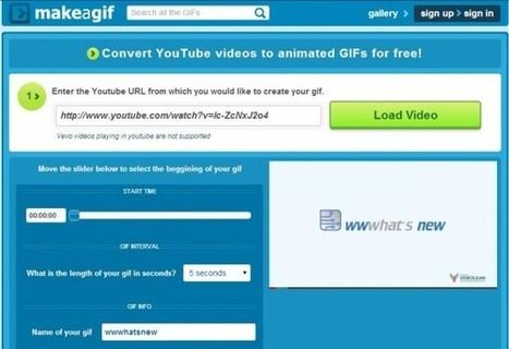 Opciones para crear gifs usando vídeos de Youtube | Recursos. TICs y educación | Scoop.it